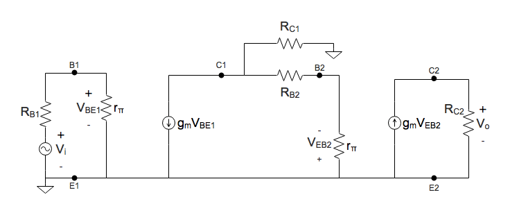 Solving For The Voltage Gain In Cascaded Two