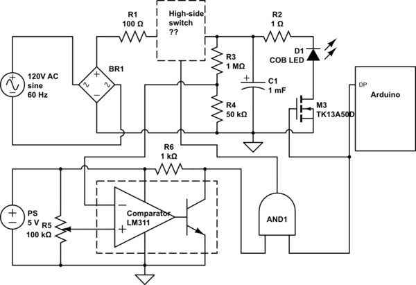 Automatic charging a capacitor to an adjustable voltage