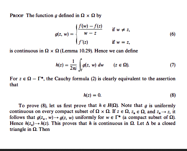"""Complex Analysis """"proof Of The Cauchy Theorem"""