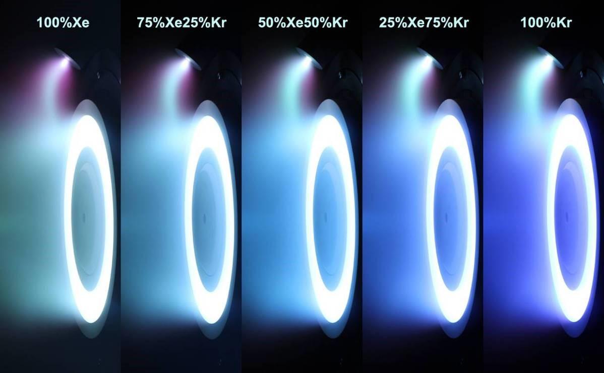 hight resolution of xenon vs krypton hall effect thruster erosion