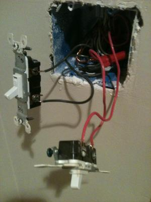 Installed Ceiling Fan, Now Light Switch Not Working