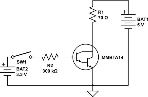 Deciding base resistor for transistor switch circuit