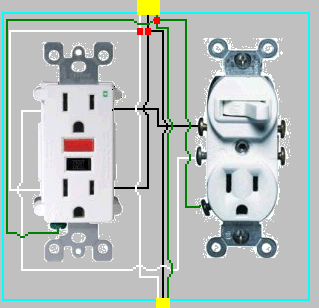 outlet switch combo wiring diagram 97 jeep tj stereo electrical - how to add gfci a box with one controlled by switch? home improvement ...