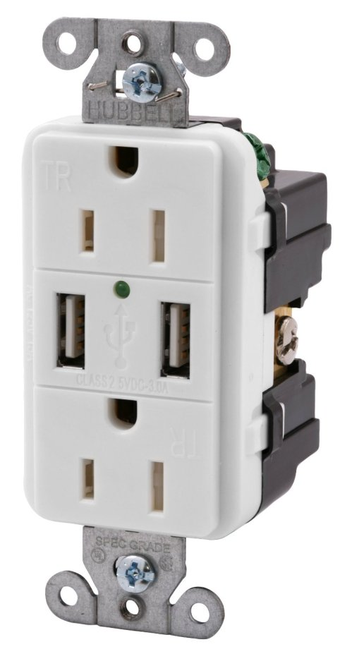 small resolution of recessed outlet box outlet with usb charging