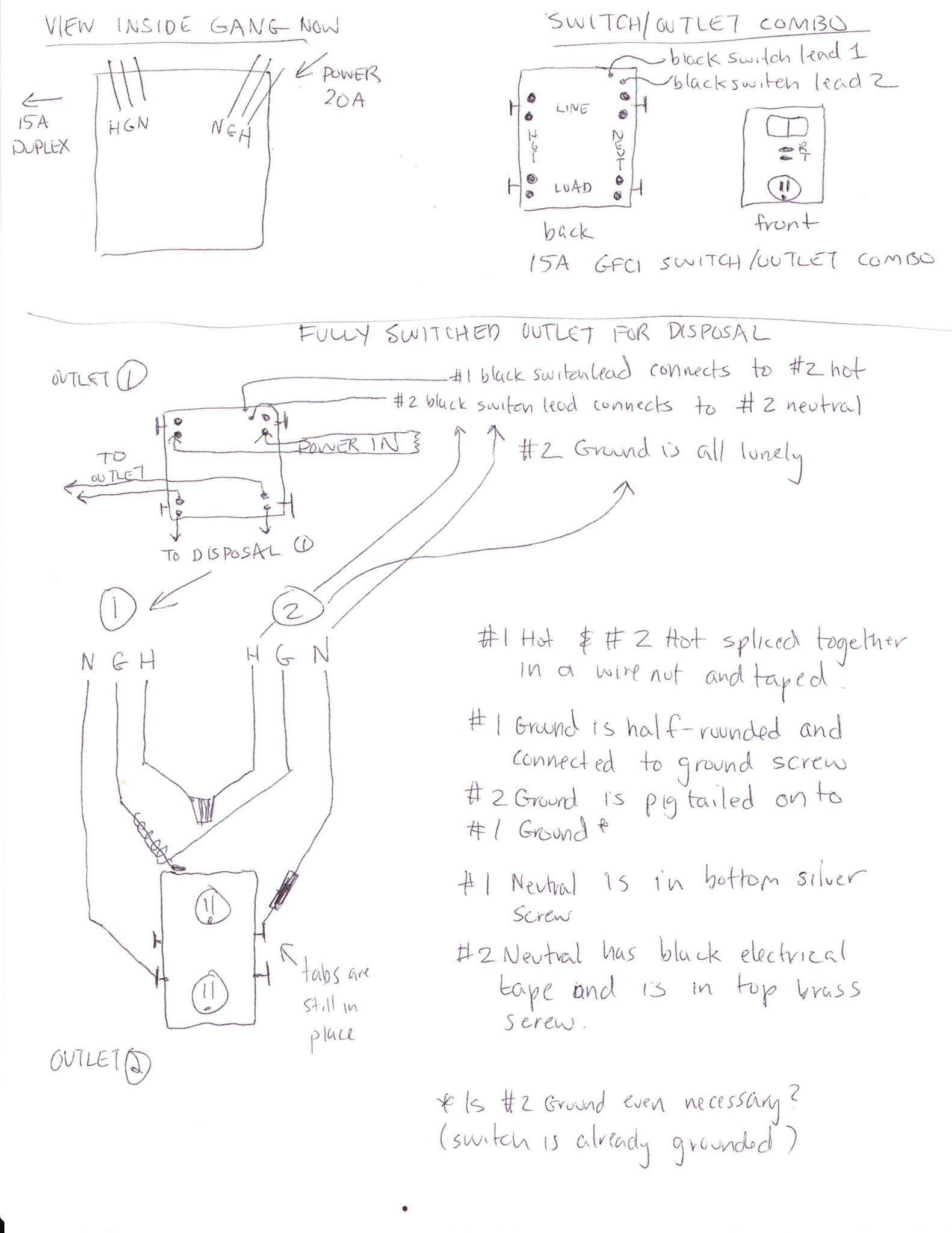 wiring diagram switched gfci outlet 2007 toyota fj cruiser headlight garbage disposal combination switch and to