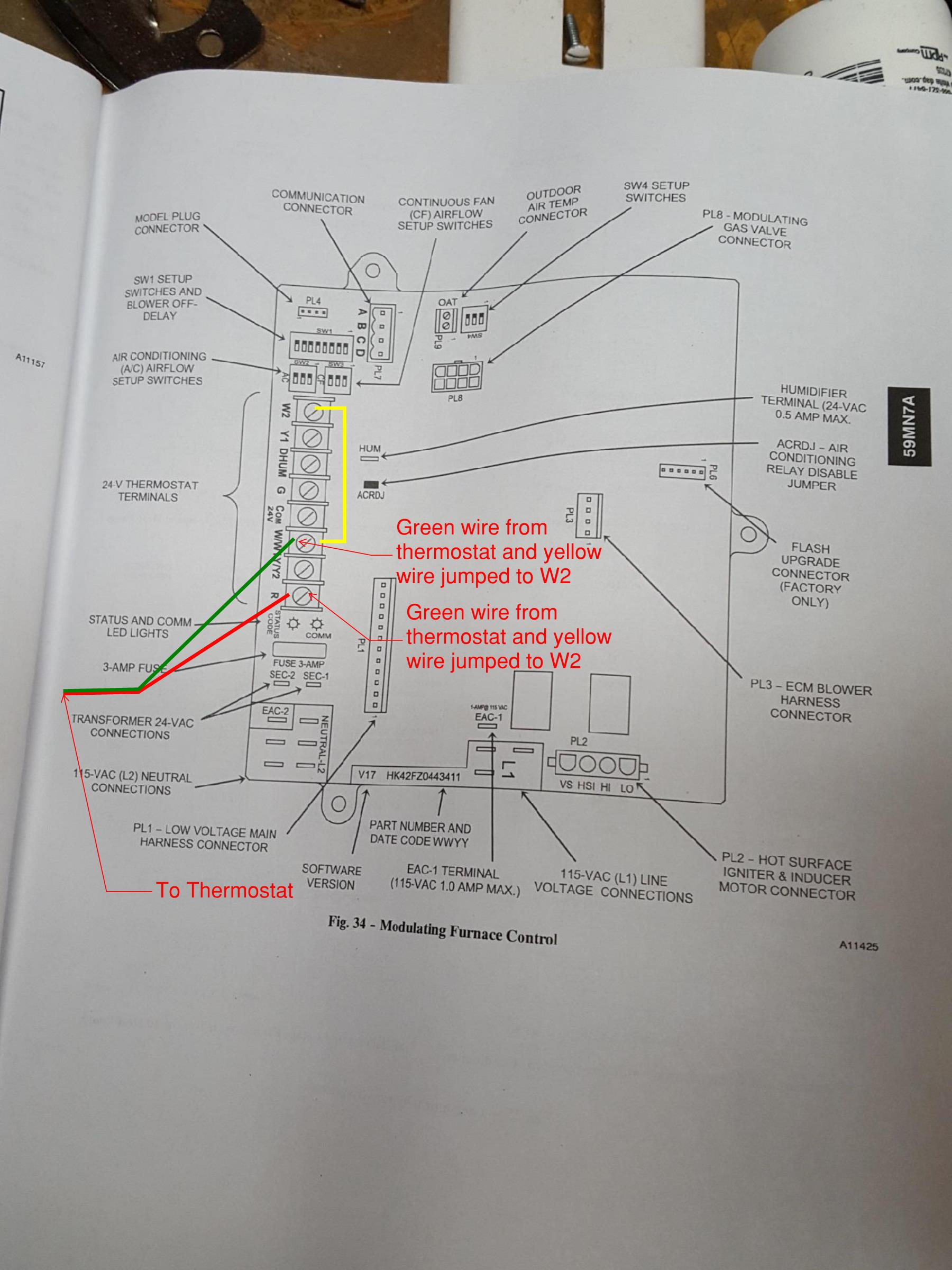 hight resolution of how to hook up new 5 wire hvac cable to newer hvac unit with only 2 wires coming from it with photos