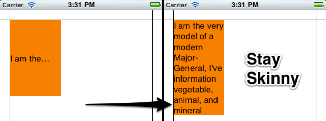Correct label alignment by resizing the frame width