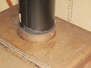 woodstove  Whats the correct way to attach stovepipe to