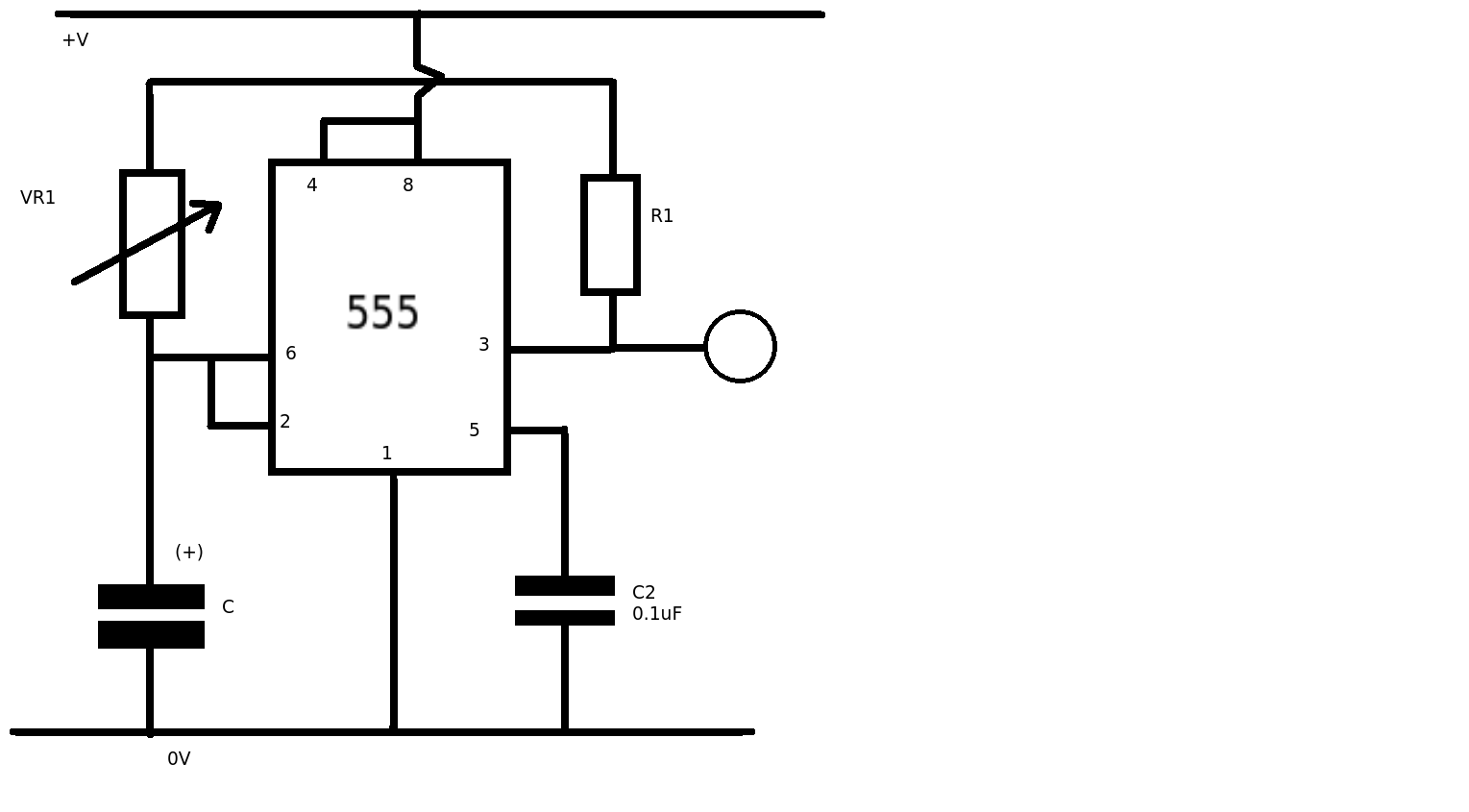 555 timer circuit with variable on off times