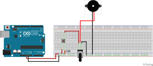 small resolution of  arduino button potentiometer piezobuzzer