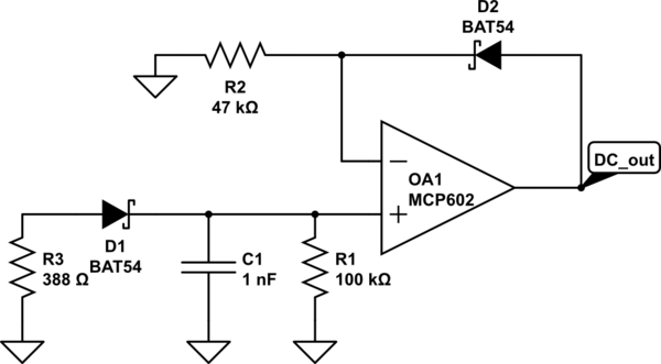 High Frequency (16 Mhz-48 MHz) Peak Hold/Envelope Detector