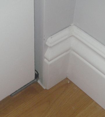 chair rail end cap adirondack rocking chairs plastic finishing how do i finish the open of a home baseboard outside corner