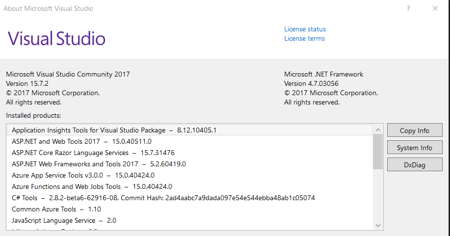 c# - Project Target Framework Not Installed 4.7.1 and 4.7.2 - Stack Overflow