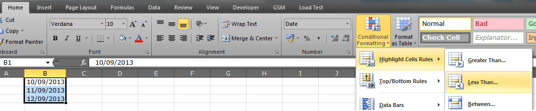 microsoft excel - Highlight field which has a passed due date in ...