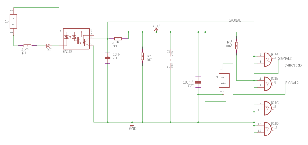 medium resolution of this is my circuit optocoupler circuit with nand component