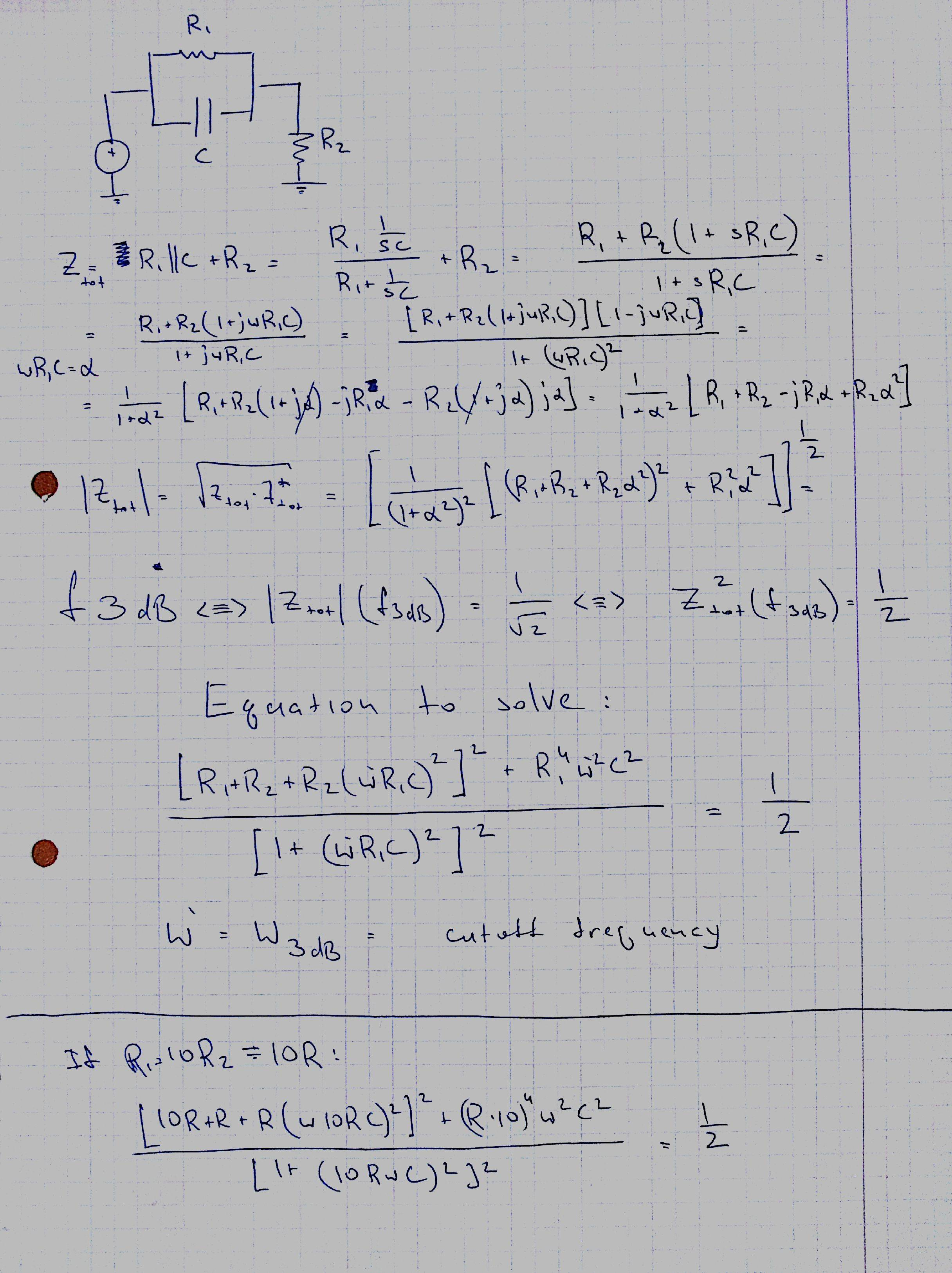 Cutoff Frequency Electrical Engineering Stack Exchange