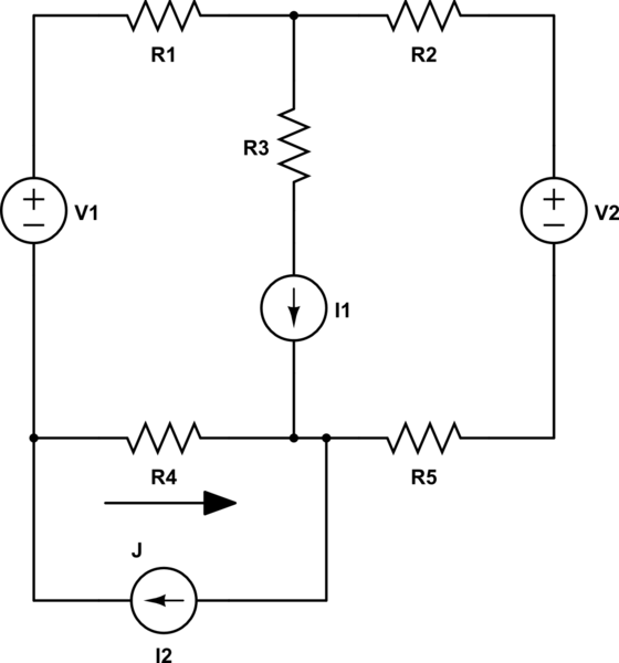 How do I use superposition to solve a circuit