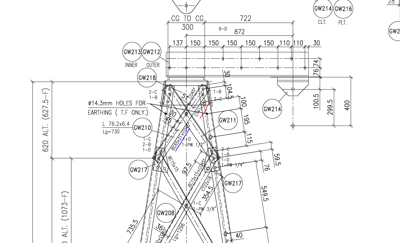 Tower Design Engineering Drawing