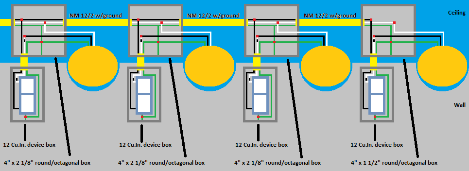 Perfect parallel wiring diagram for recessed lights image led for recessed lights wiring diagram wiring diagram asfbconference2016 Images