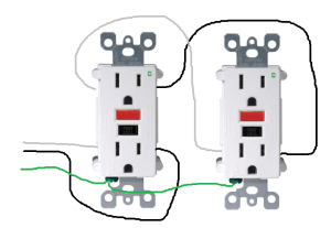 electrical  How do I properly wire GFCI outlets in