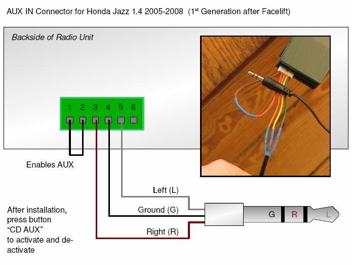 aux cord wiring diagram