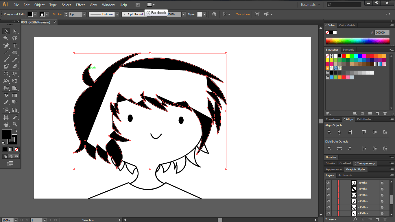 Shape Does Not Fill Entirely In Illustrator Cs6