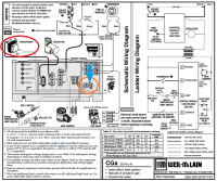 How to connect thermostat C wire to Weil-McLain CGa boiler ...