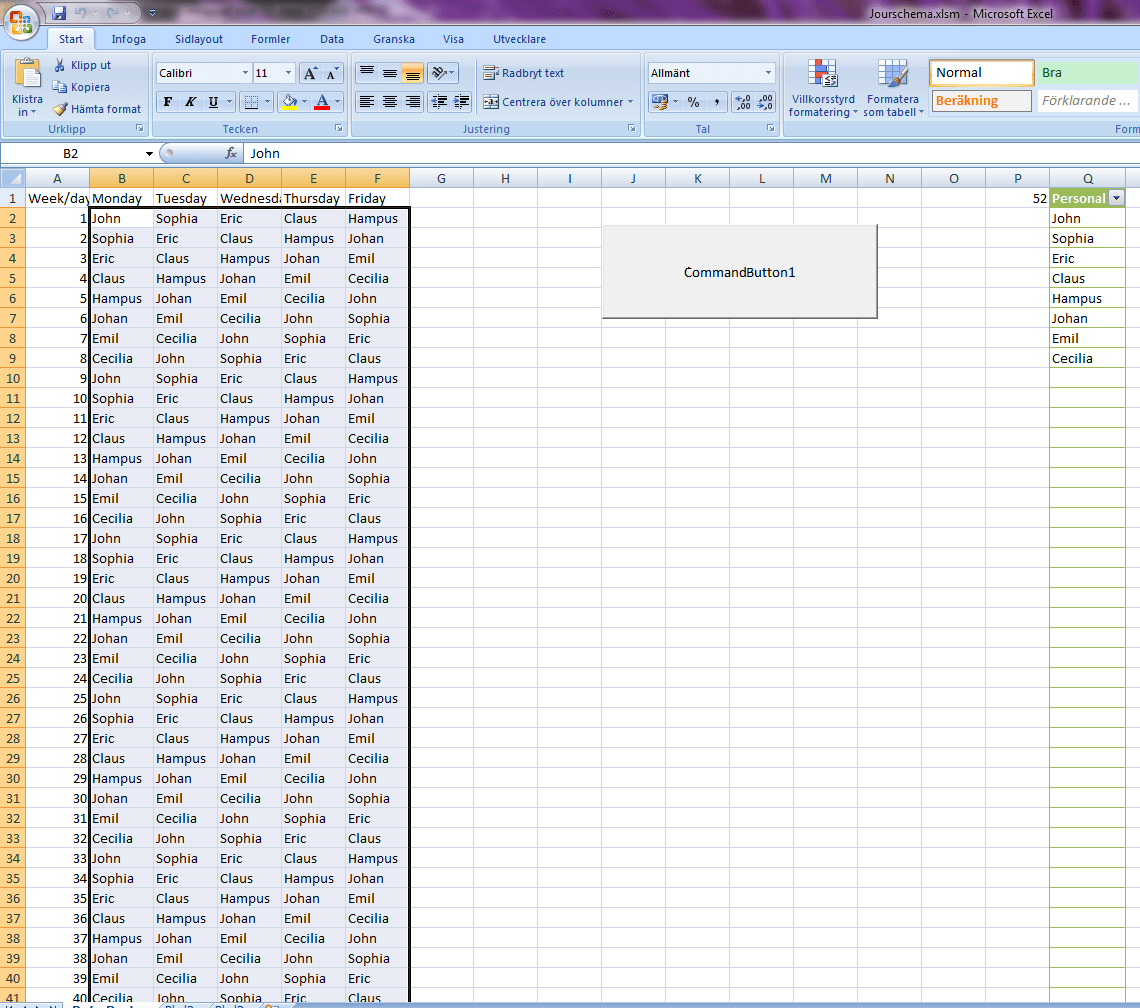 How To Replace Numbers In Cells With Names From A List In