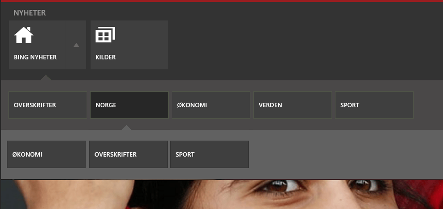c  How to implement Win8 news app bar style menu in WPF