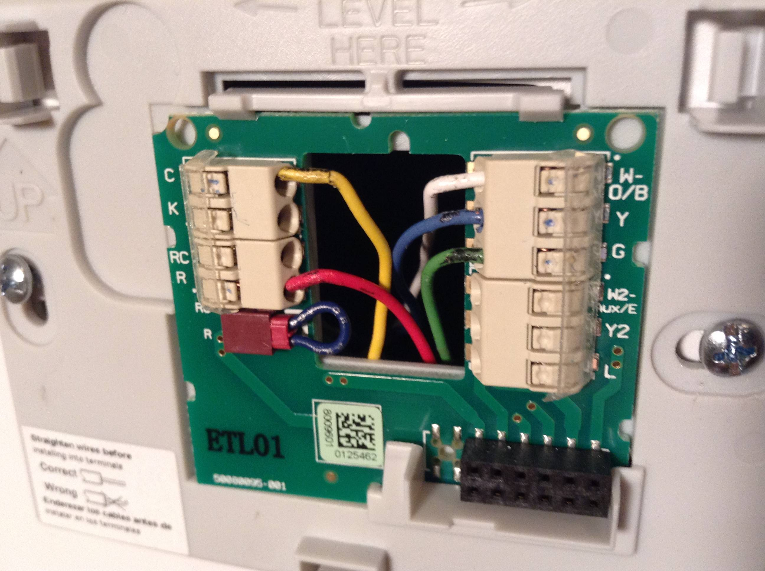 Help Understand The Wiring For My Thermostat
