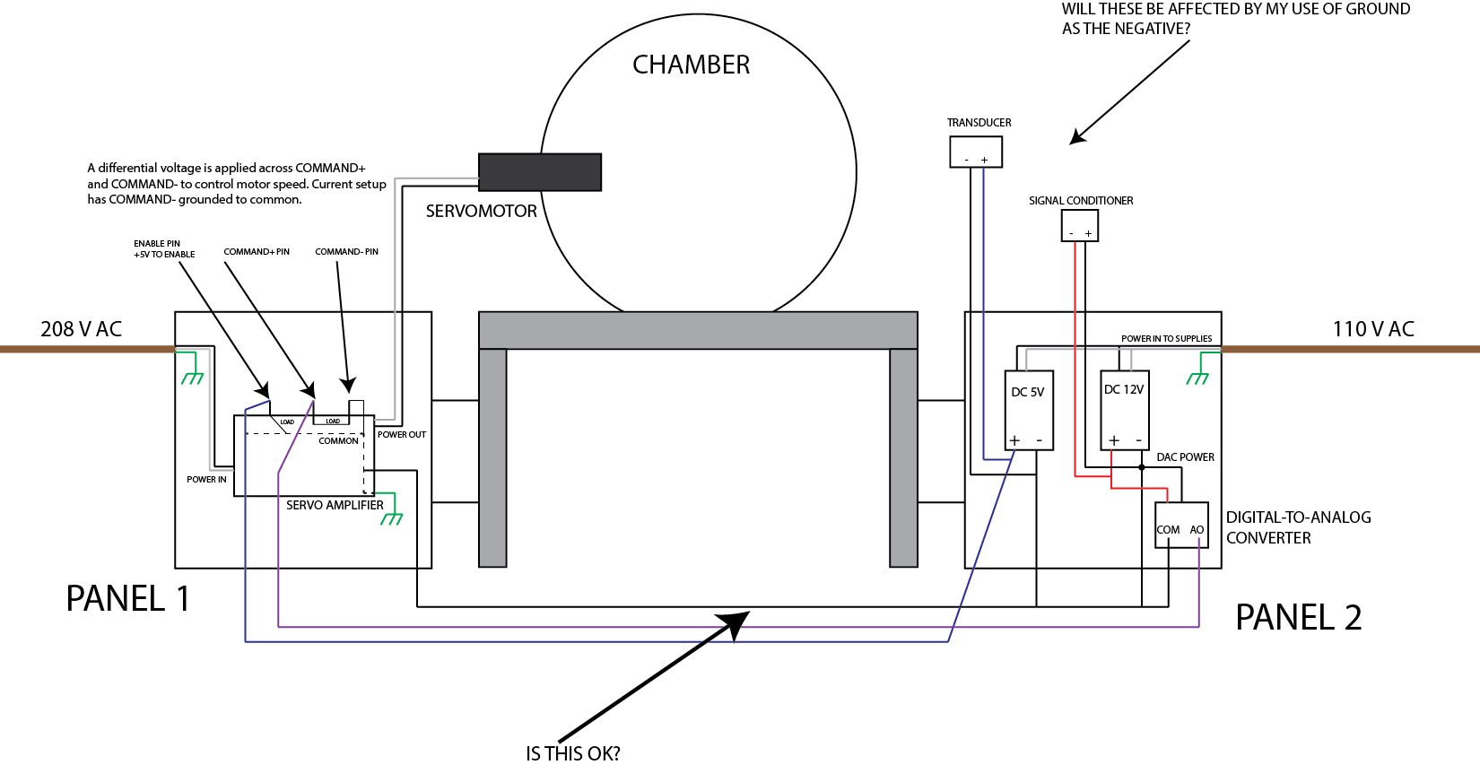 Re Wiring Experimental Apparatus Questions Regarding