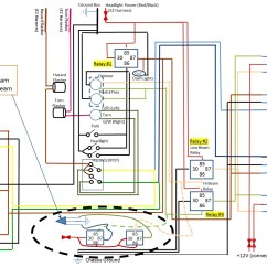 Car Headlight Wiring Diagram Vga To Hdmi Cable Simple With Relays Get Free