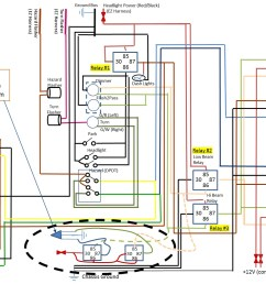 relay could use some help on what should be a simple led wiring simple spotlight wiring car headlight simple wiring diagrams  [ 1464 x 1103 Pixel ]