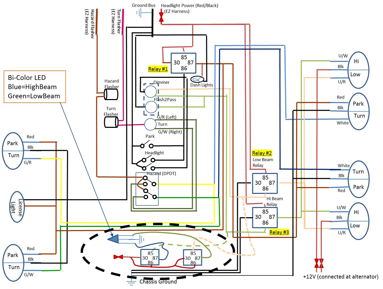 car led light wiring diagram unlabeled muscles blank relay could use some help on what should be a simple