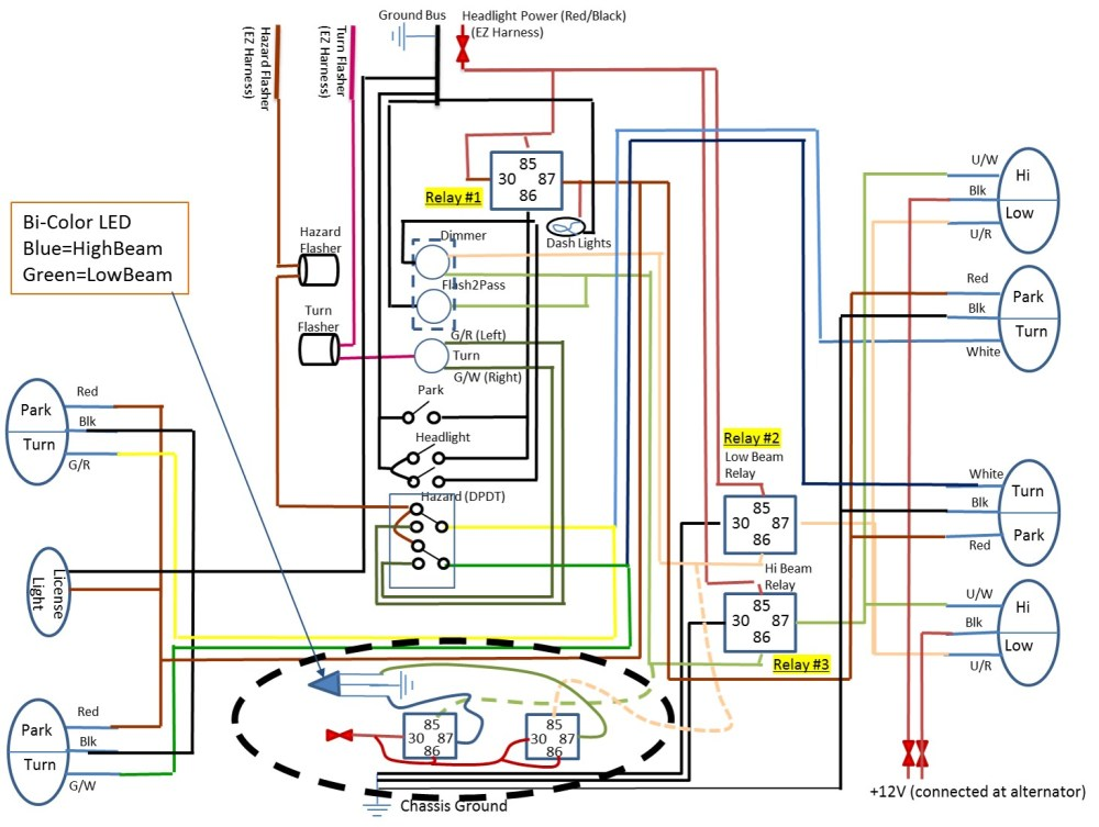 medium resolution of relay could use some help on what should be a simple led wiring simple spotlight wiring car headlight simple wiring diagrams