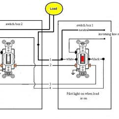 3 Way Switch With Pilot Light Diagram Lungs Human Anatomy Electrical - How To Add Indicator On A Indicate The Outdoor 3-way Is ...
