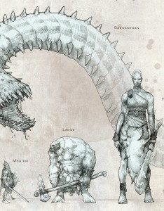 creature size chart also dnd how do the height and reach of  monster such as hydra rh rpgackexchange