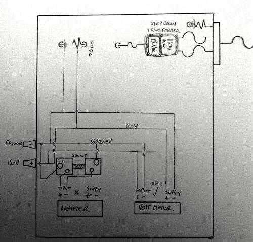 small resolution of rough schematic of my power supply power isolation 12v