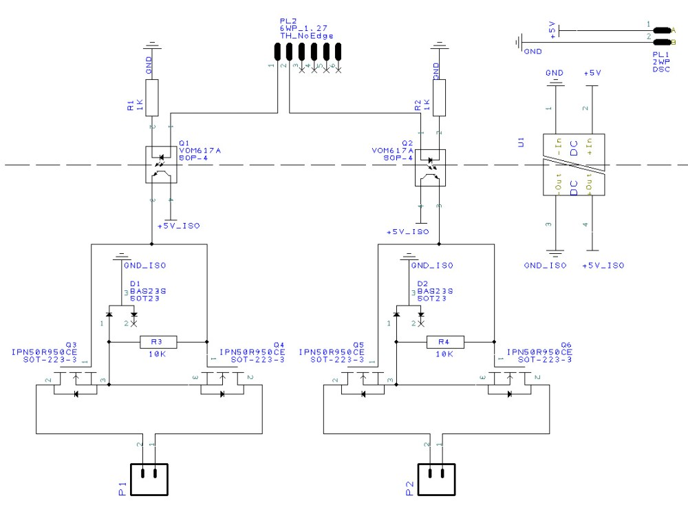 medium resolution of circuit diagram of experimental dual mosfet ac switching circuit
