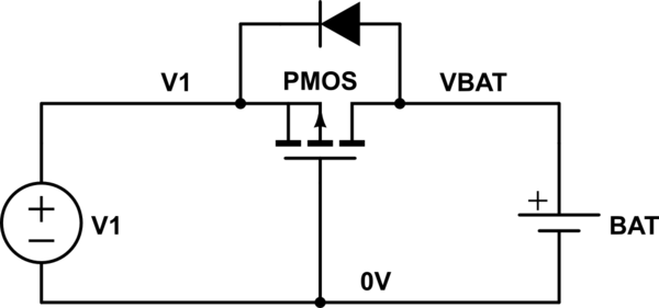 Power supply protection to charge a battery