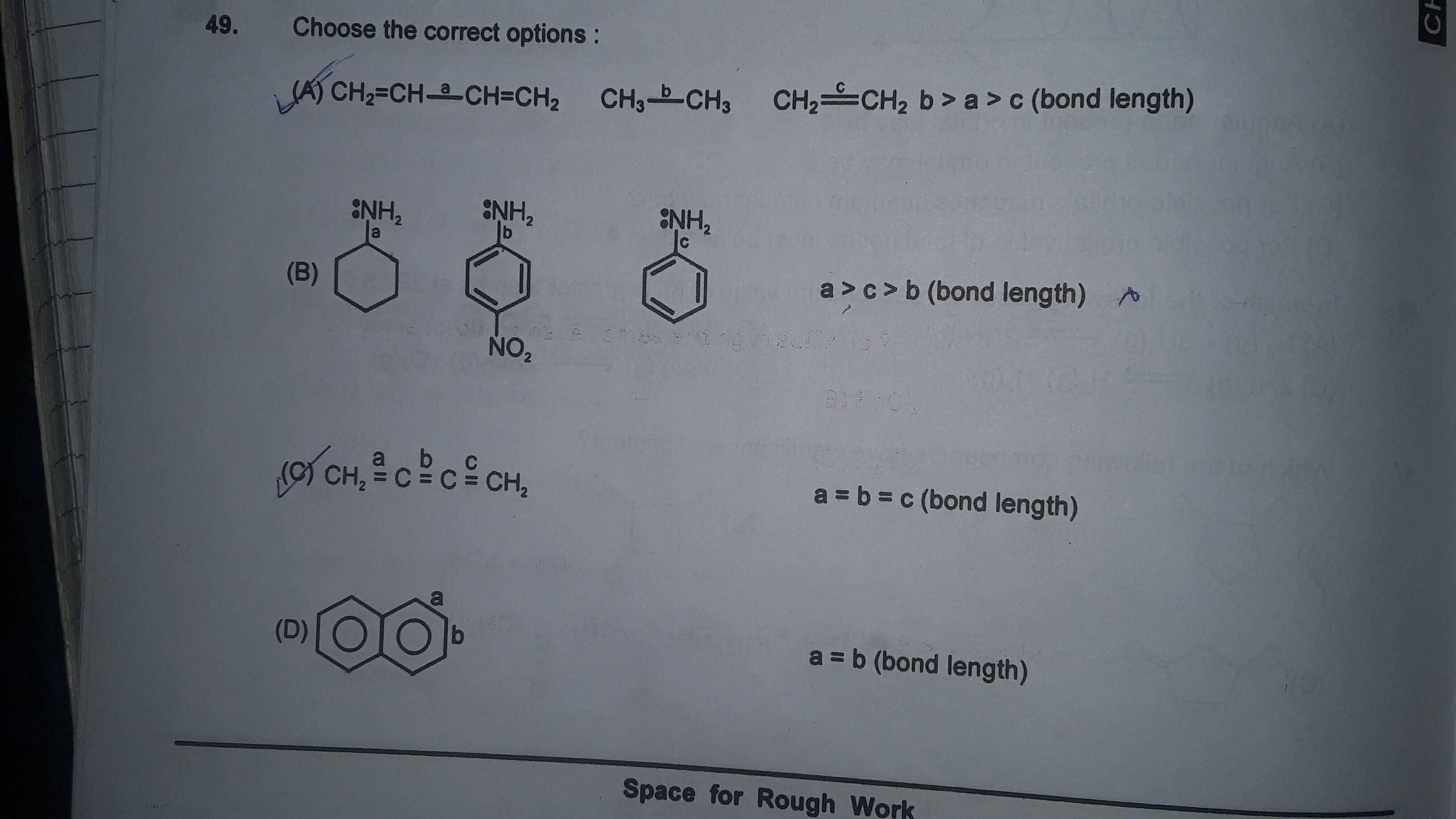 Comparison Of Bond Length