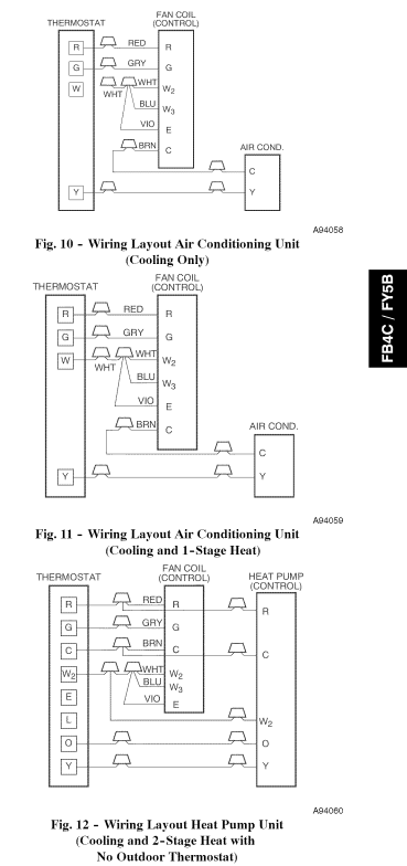 carrier thermostat wiring diagram cat5 type b wire data how do i connect the common in a air handler electric