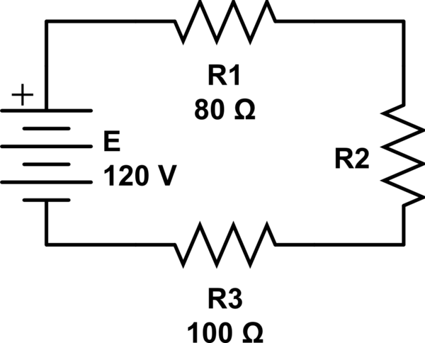 calculating voltage drop for parallel circuits given equivalent