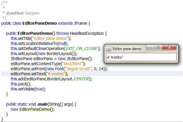 Java Setting Default Font In JEditorPane Stack Overflow