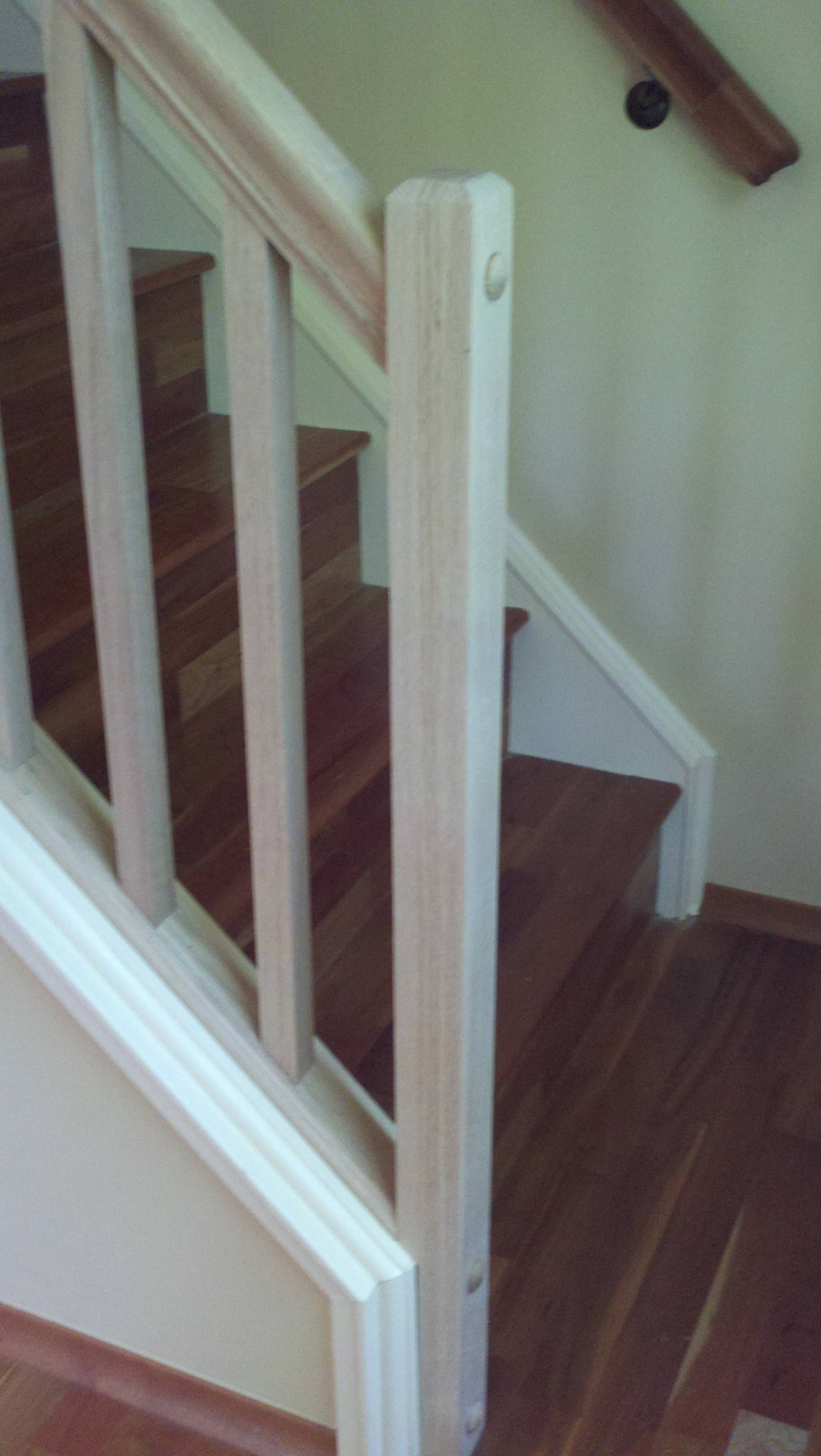 How Can I Set Up A Removable Stair Railing Home Improvement | Installing Newel Post And Spindles | Stair Parts | Staircase | Stair Banister | Iron Stair | Wrought Iron Spindles