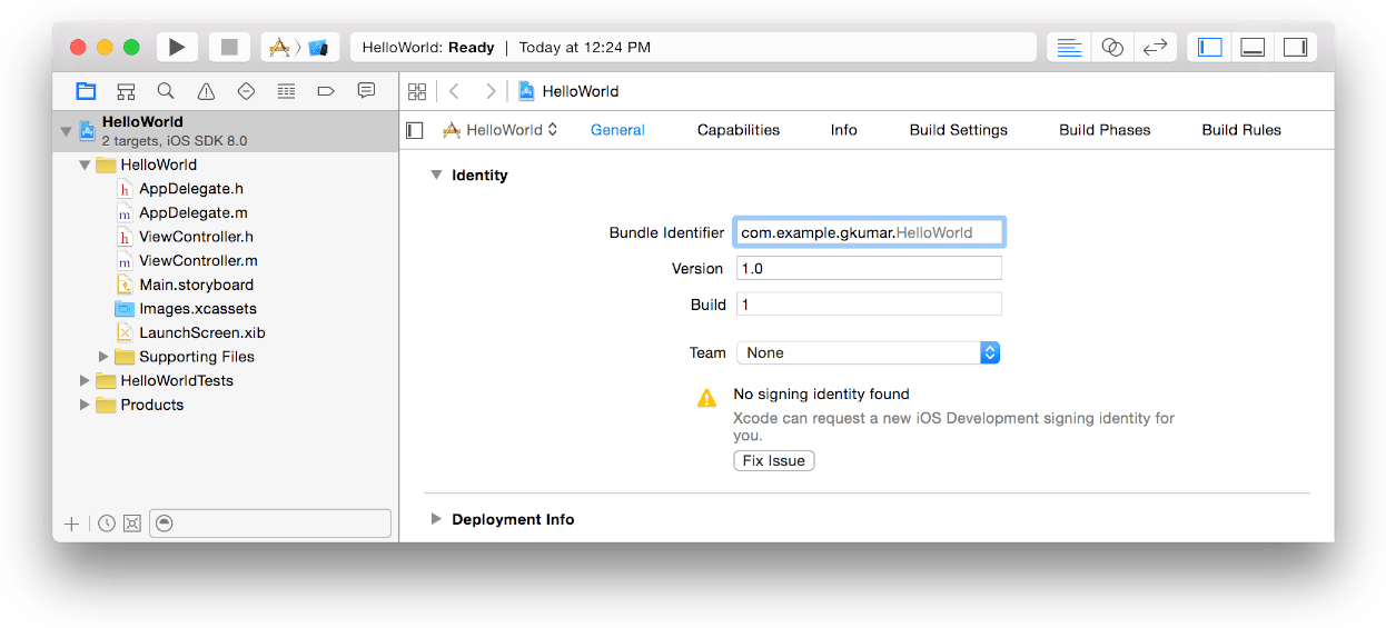 Change bundle identifier in Xcode when submitting my first
