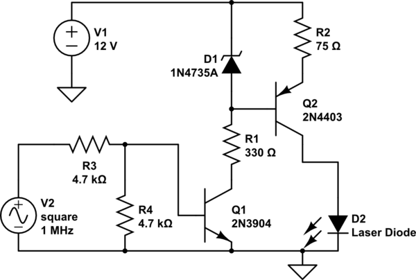 Help designing a circuit to drive a 1550nm DFB LD and use
