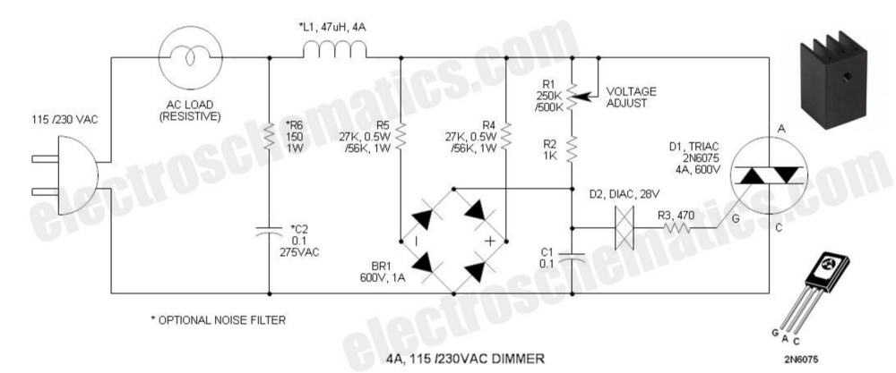 medium resolution of power electronics what is the rectifier s role in this ac dimmer ac dimmer circuit schematic