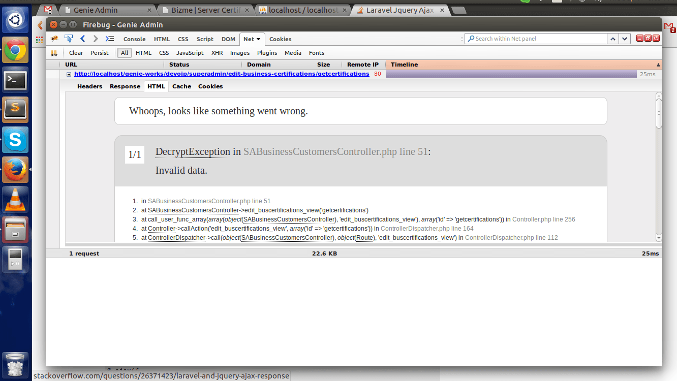 php - Laravel Jquery Ajax 404 error and migration URL Issue - Stack Overflow