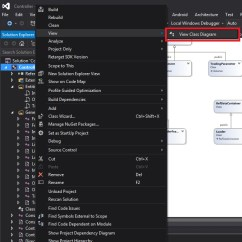 Visual Studio View Class Diagram Bodine B100 Fluorescent Emergency Ballast Wiring How To Generate Project Wide Uml In Microsoft Select Enter Image Description Here
